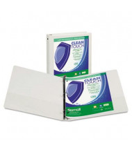 "Samsill 4"" Capacity 8-1/2"" x 11"" Round Ring Clean Touch View Binder, White"