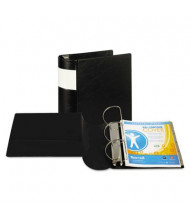 "Samsill 5"" Capacity 8-1/2"" x 11"" Straight Ring with Label Holder Non-View Binder, Black"