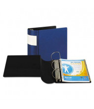 "Samsill 5"" Capacity 8-1/2"" x 11"" Straight Ring with Label Holder Non-View Binder, Dark Blue"