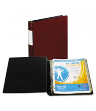 "Samsill 1"" Capacity 8-1/2"" x 11"" Straight Ring with Label Holder Non-View Binder, Burgundy"