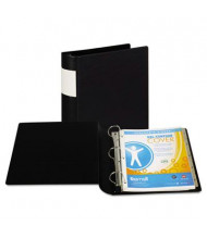 "Samsill 2"" Capacity 8-1/2"" x 11"" Straight Ring with Label Holder Non-View Binder, Black"