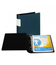 "Samsill 2"" Capacity 8-1/2"" x 11"" Straight Ring with Label Holder Non-View Binder, Teal"