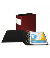 "Samsill 3"" Capacity 8-1/2"" x 11"" Straight Ring with Label Holder Non-View Binder, Burgundy"