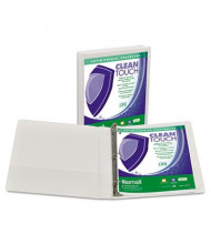 "Samsill 1"" Capacity 8-1/2"" x 11"" Locking Round Ring Clean Touch View Binder, White"