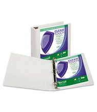"Samsill 2"" Capacity 8-1/2"" x 11"" Locking Round Ring Clean Touch View Binder, White"