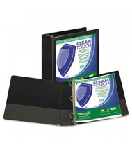 "Samsill 3"" Capacity 8-1/2"" x 11"" Locking Round Ring Clean Touch View Binder, Black"