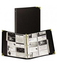"Samsill Vinyl Business Card Binder Holds 200 2"" x 3 1/2"" Cards, Ebony"
