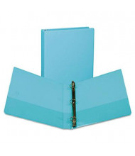 "Samsill 1"" Capacity 8-1/2"" x 11"" Round Ring Fashion View Binder, Turquoise, 2-Pack"