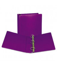 "Samsill 2"" Capacity 8-1/2"" x 11"" Round Ring Fashion View Binder, Purple, 2-Pack"