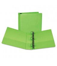 "Samsill 2"" Capacity 8-1/2"" x 11"" Round Ring Fashion View Binder, Lime, 2-Pack"