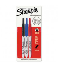 Sharpie Retractable Permanent Marker, Ultra Fine Tip, Assorted, 3-Pack