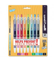 Uni-ball Signo 207 0.7 mm Medium Clear Retractable Roller Ball Pens, Assorted, 8-Pack