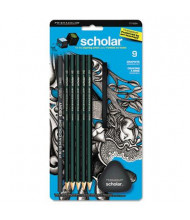 Prismacolor Scholar 2 mm Assorted Leads Woodcase Erasable Pencils, 9-Pack