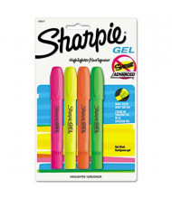 Sharpie Bullet Tip Gel Highlighter, Assorted, 4-Pack