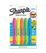 Sharpie Bullet Tip Gel Highlighter, Assorted, 5-Pack
