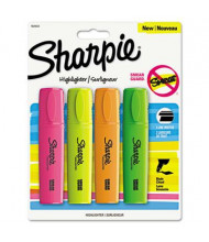 Sharpie Blade Tip Highlighter, Assorted, 4-Pack