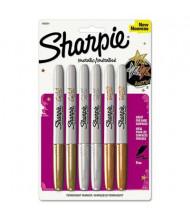 Sharpie Metallic Permanent Marker, Bullet Tip, Assorted, 6-Pack