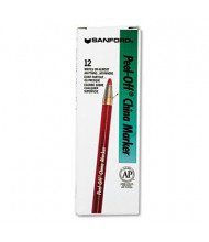 Sharpie Peel-Off China Marker, Red, 12-Pack