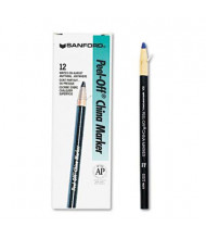 Sharpie Peel-Off China Marker, Blue, 12-Pack