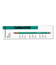 Prismacolor 2B 2 mm Turquoise Woodcase Drawing Pencils, 12-Pack