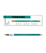 Prismacolor 2H 2 mm Turquoise Woodcase Drawing Pencils, 12-Pack