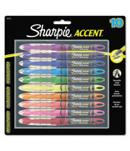 Sharpie Accent Liquid Chisel Tip Highlighter Pen, Assorted, 10-Pack