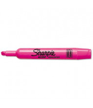 Sharpie Accent Tank Style Chisel Tip Highlighter, Pink, 12-Pack