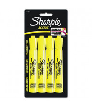 Sharpie Accent Tank Style Chisel Tip Highlighter, Yellow, 4-Pack