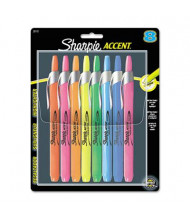Sharpie Accent Retractable Chisel Tip Highlighter, Assorted, 8-Pack