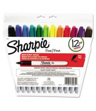 Sharpie Permanent Marker, Fine Tip, Assorted, 12-Pack