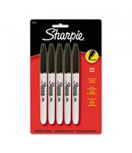 Sharpie Fine Tip Permanent Marker, Fine Tip, Black, 5-Pack