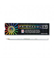 Prismacolor Premier 3 mm White Woodcase Pencils, 12-Pack