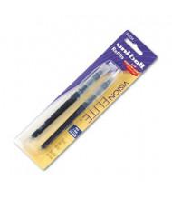 Uni-ball Refill for Bold Vision Elite Roller Ball Pens, Black & Blue Ink, 2-Pack
