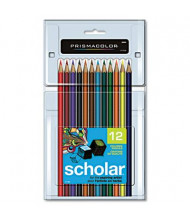 Prismacolor Scholar 3 mm Assorted Colors Woodcase Pencils, 12-Pack