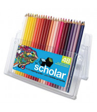 Prismacolor Scholar 3 mm Assorted Colors Woodcase Pencils, 48-Pack