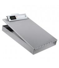 "Saunders 1"" Capacity 8-1/2"" x 12"" Redi-Rite Aluminum Storage Clipboard, Silver"