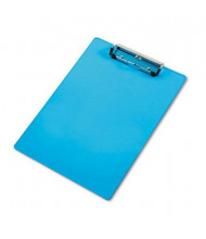 "Saunders 1/2"" Capacity 8-1/2"" x 12"" Shatterproof Acrylic Clipboard, Transparent Blue"