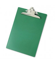 "Saunders 1"" Capacity 8-1/2"" x 12"" Recycled Plastic Clipboard, Green"