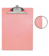"Saunders 1"" Capacity 8-1/2"" x 12"" Recycled Plastic Clipboard, Pink"