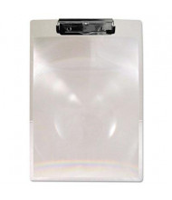 "Saunders 1/2"" Capacity 8-1/2"" x 11"" MagBoard Plastic Clipboard, Clear"