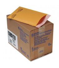 "Sealed Air 5"" x 10"" Side Seam #00 Jiffylite Self-Seal Mailer, Golden Brown, 25/Carton"