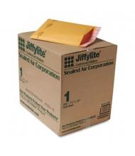"Sealed Air 7-1/4"" x 12"" Side Seam #1 Jiffylite Self-Seal Mailer, Golden Brown, 100/Carton"