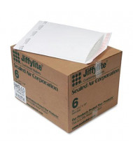 "Sealed Air 12-1/2"" x 19"" Side Seam #6 Jiffylite Self-Seal Mailer, White, 50/Carton"