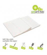 "Smart-Fab 9"" x 12"" White Disposable Fabric Sheets, 45/Pack"