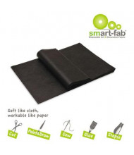 "Smart-Fab 9"" x 12"" Black Disposable Fabric Sheets, 45/Pack"