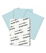 "Springhill 8-1/2"" x 11"", 67lb, 250-Sheets, Blue Vellum Bristol Color Cover Stock"