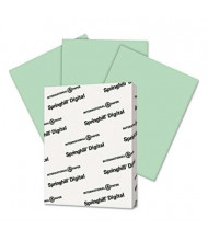 "Springhill 8-1/2"" x 11"", 67lb, 250-Sheets, Green Vellum Bristol Color Cover Stock"