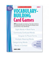Scholastic Vocabulary Grade 1 Building Card Games, 80 pages