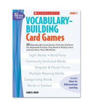Scholastic Vocabulary Grade 2 Building Card Games, 80 pages