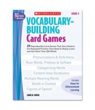 Scholastic Vocabulary Grade 4 Building Card Games, 80 pages